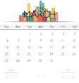 2016 calendar with Creative building design vector image vector image