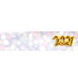 2021 happy new year banner sparkling background vector image