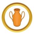 Ancient vase icon vector image vector image