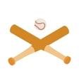 baseball bats and isometric 3d icon vector image