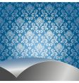 blue and silver background vector image vector image
