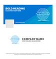blue business logo template for design goal vector image vector image