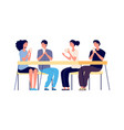 board game evening friends meeting happy players vector image