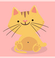 cartoon cat smile pink background image vector image vector image