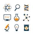 Chemistry and bio technology icons vector image vector image