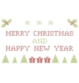Christmas embroidering vector image vector image