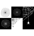 cobweb or spider web silhouettes set vector image