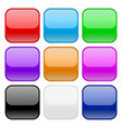 collection of square glass buttons vector image vector image