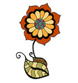 colored doodle flower vector image vector image