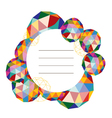 colorful polygonal label vector image vector image