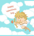 cupid aiming with bow and arrow vector image vector image
