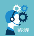 customer service call center operator wearing vector image vector image