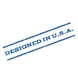 Designed In USA Watermark Stamp vector image