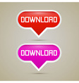Download Buttons - vector image vector image
