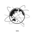 earth and satellite orbits vector image vector image