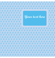 Elegance blue pattern vector image vector image