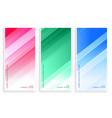 elegant colors shiny lines business banners set vector image