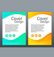 flyer design bright gradient waves on white vector image vector image