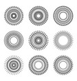 geometry circle ethnic style pattern on white vector image vector image