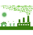 green eco factory vector image vector image