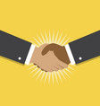 handshake and cooperation vector image vector image