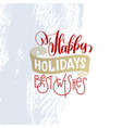 happy holidays best wishes hand lettering holiday vector image vector image
