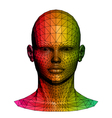 Human colorful head vector image vector image