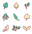 Icons Style Icons Style leaf icon vector image vector image