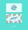 identity ice cream green vector image vector image