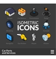 Isometric outline icons set 35 vector image vector image