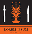 Lobster Fork and Knife icon vector image vector image