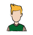 man avatar profile picture people vector image vector image