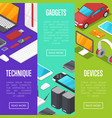 modern gadgets and computer devices set vector image