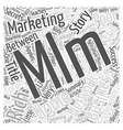 Network Marketing Secrets Explaining the MLM Home vector image vector image