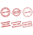 Online stamps vector image vector image
