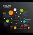 original minimalist cv resume template vector image vector image