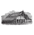 outside view of the tabernacle vintage vector image vector image