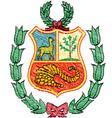 Peruvian coat of arms vector image vector image