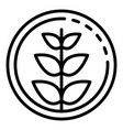 plant in circle icon outline style vector image vector image