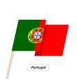 Portugal Ribbon Waving Flag Isolated on White vector image