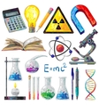 Scientific Objects And Formulas Icons Set vector image vector image
