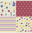 seamless natural ornament patterns set vector image