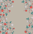 seamless pattern with strawberry berry vector image vector image