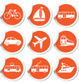set of trasport icons vector image
