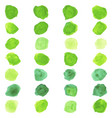 set of watercolor pastel green round brushes vector image vector image