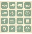 Shipping and Logistics Retro Icons vector image vector image