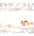 Silver christmas background with gifts vector image vector image