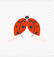 the logo of ladybug isolated on a transparent vector image vector image