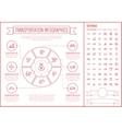 Transportation Line Design Infographic Template vector image vector image