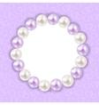 Vintage Pearl Frame Background vector image